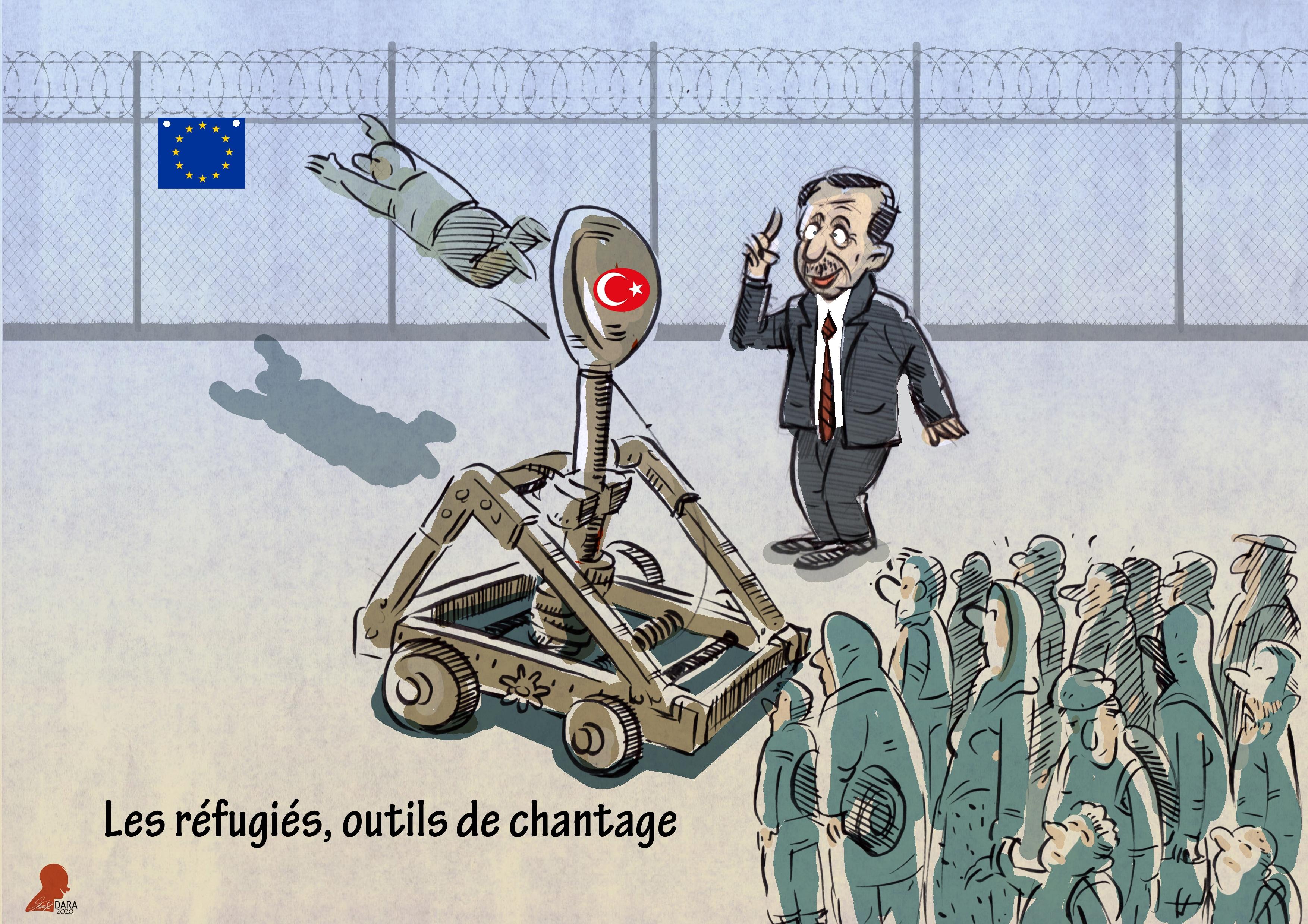 Les réfugiés, outils de chantage