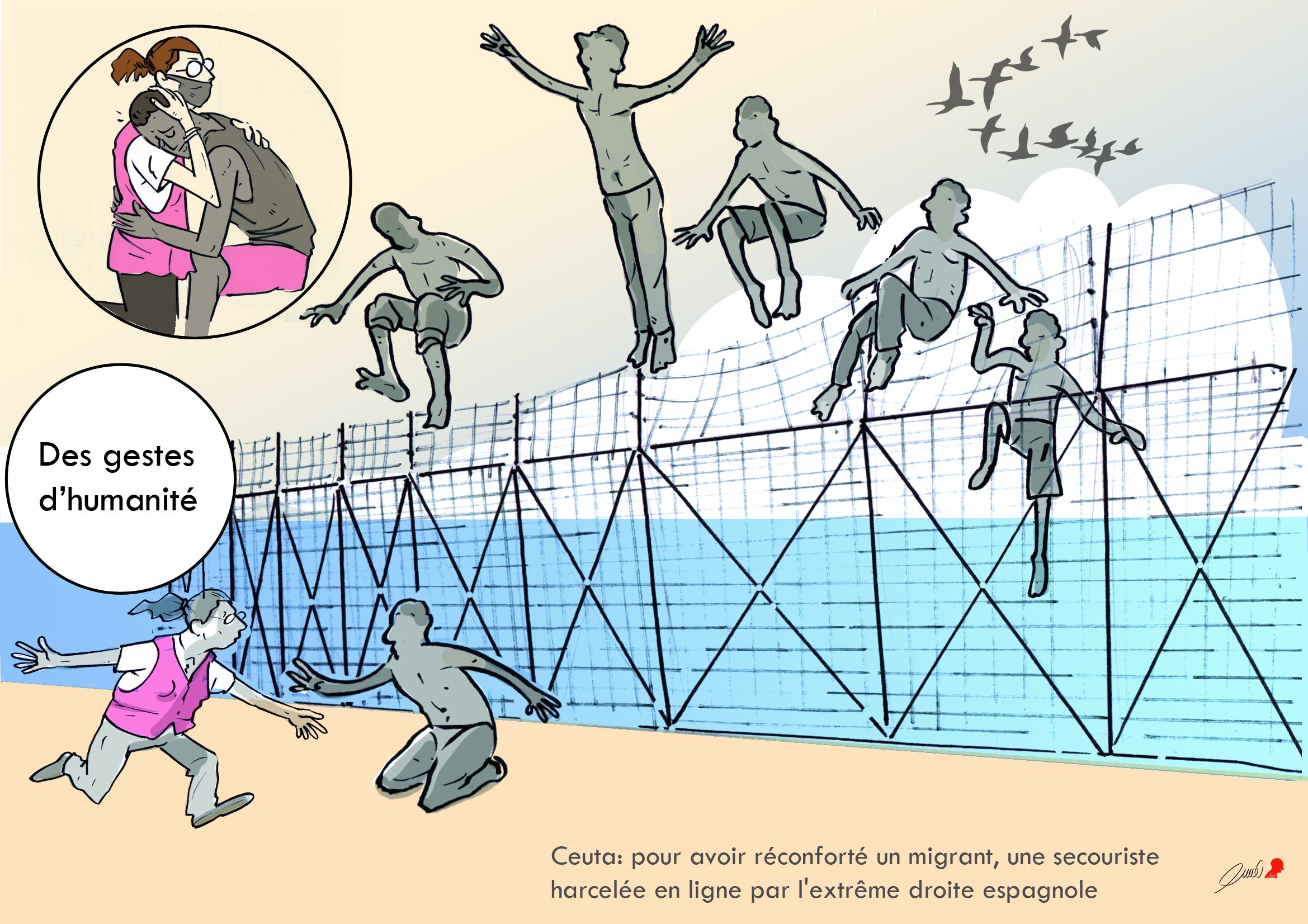 Mai 2021 : Afflux de migrants à Ceut.
